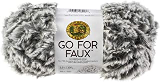 Lion Brand Yarn Go for Faux Yarn-Grey Wolf