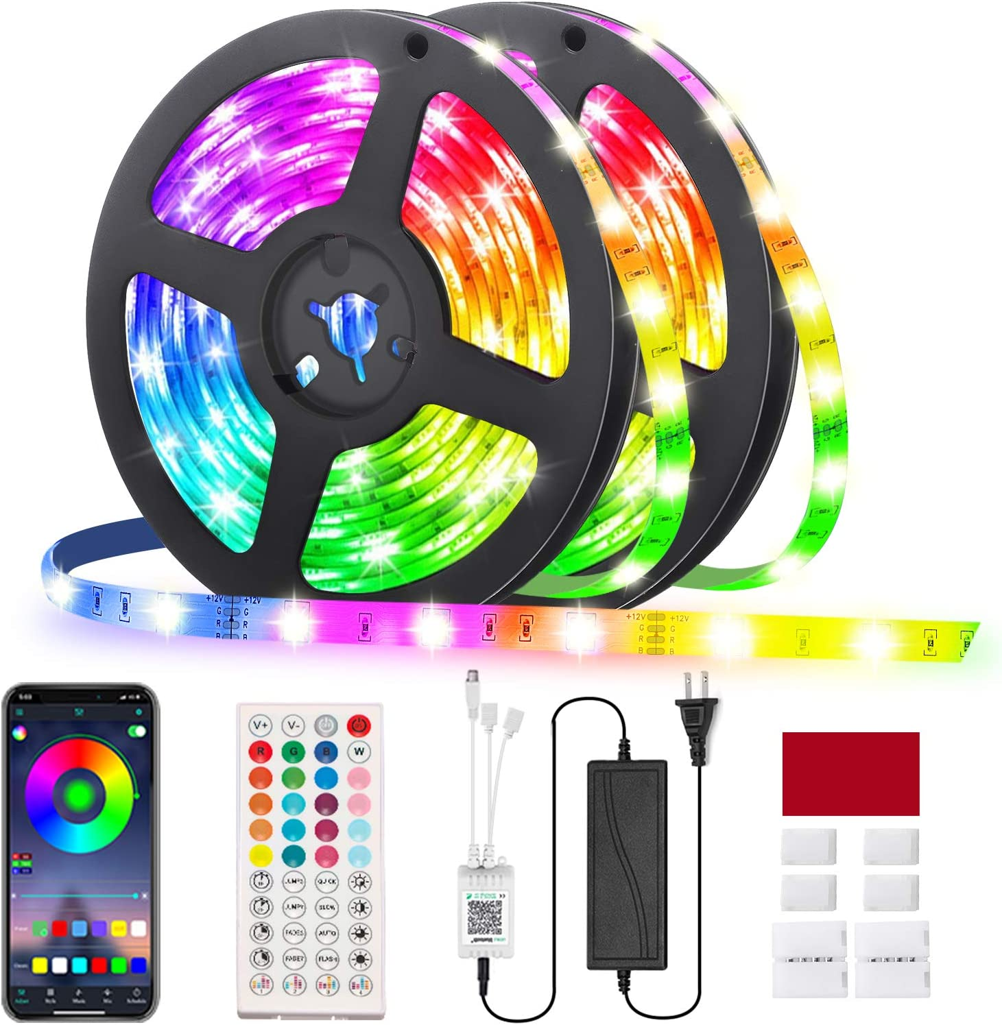 RGB Led Strip Now on sale Lights 32.8ft GLIME Contro Strips Direct stock discount 10m with App