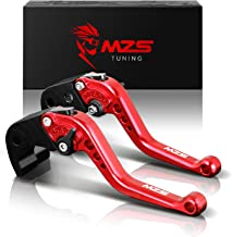 MZS Short Brake Clutch Levers for Honda GROM MSX125 2014-2018/ CBR250R 11-13/ CBR300R CB300F CB300FA 14-17/ CB300R 2018-2019/ CB400F CB400R 13-15/ CBR500R CB500F CB500X 13-18/ Monkey 125 18-19 Red