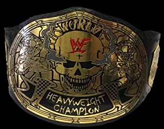 Woldorf USA Championship Belt Smoking Skull Commemorative Title Belt Powerful Wrestling Trophy - Wrestler Gift