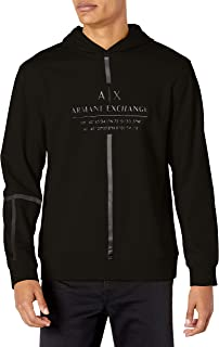 Armani Exchange Men's Hooded Sweatshirt, Black, M