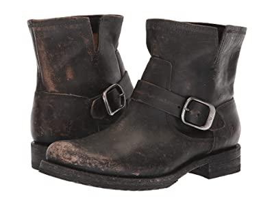 Frye Veronica Bootie (Black Full Grain Brush-Off) Women