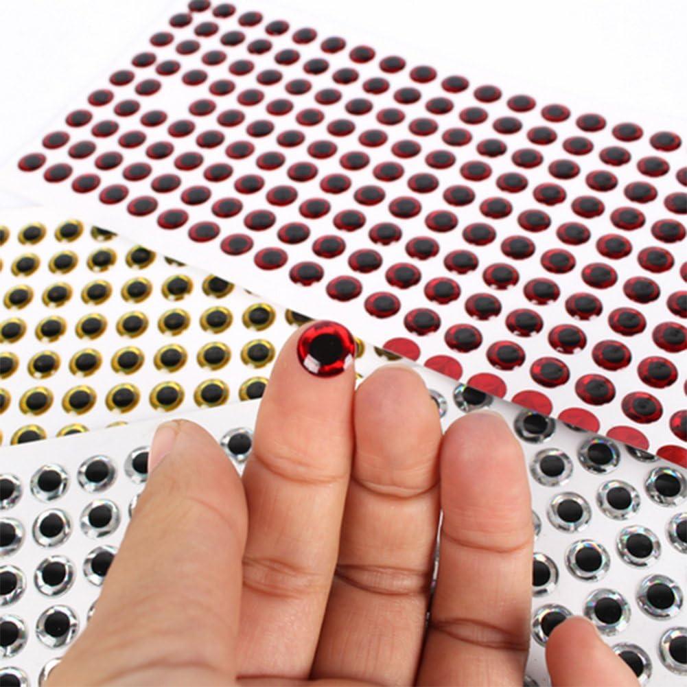 500PCS 3-6mm Fish Eyes 3D Holographic Lure Eyes Fly Tying Jigs Crafts DollNWBBci