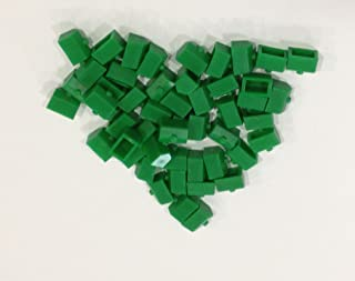 Plastic Houses: Green Color Board Game Replacement House (Colored Miniature Town & City Buildings, Board Game Playing Pieces)
