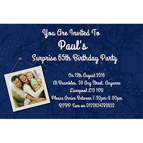 40 Personalised Surprise Birthday Party Invite Invitations For ANY Age Ref D BL FREE