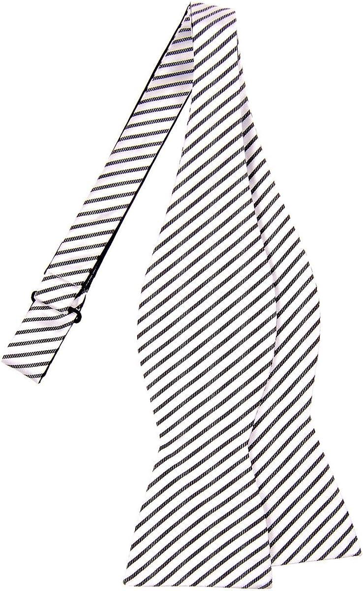 Retreez Modern Stripe Max 90% OFF Wholesale Woven Microfiber Tie Bow Self