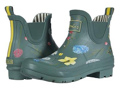 Joules Wellibob Chelsea Boot (Green Floral) Women