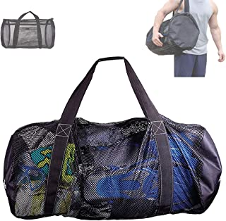Deacroy Mesh Dive Bag,Diving Snorkel Bag,Multi-Purpose Equipment Diving Duffle Gear Tote, Foldable Scuba Gear Travel Bag,E...