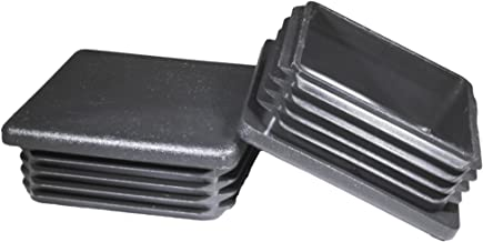 Prescott Plastics 3 Inch Square Plastic Plug, Heavy Duty Tubing Post End Cap ((B) Pack of 4 Plugs)