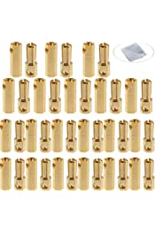 Foxnovo 20 pares de 3,5 mm chapado en Oro Bala Banana Conector macho para hembra para RC bater/ía ESC Motor