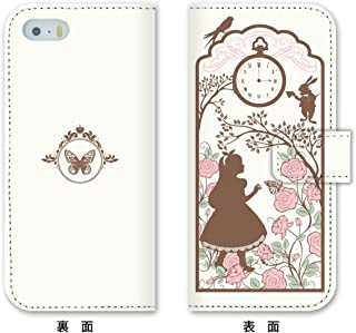 iPhone 7 Plus Case, MADE IN JAPAN Wallet Case Alice in Wonderland for iPhone 7 Plus, White color