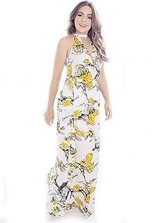 Vestido Mania de Sophia Longo Floral Branco