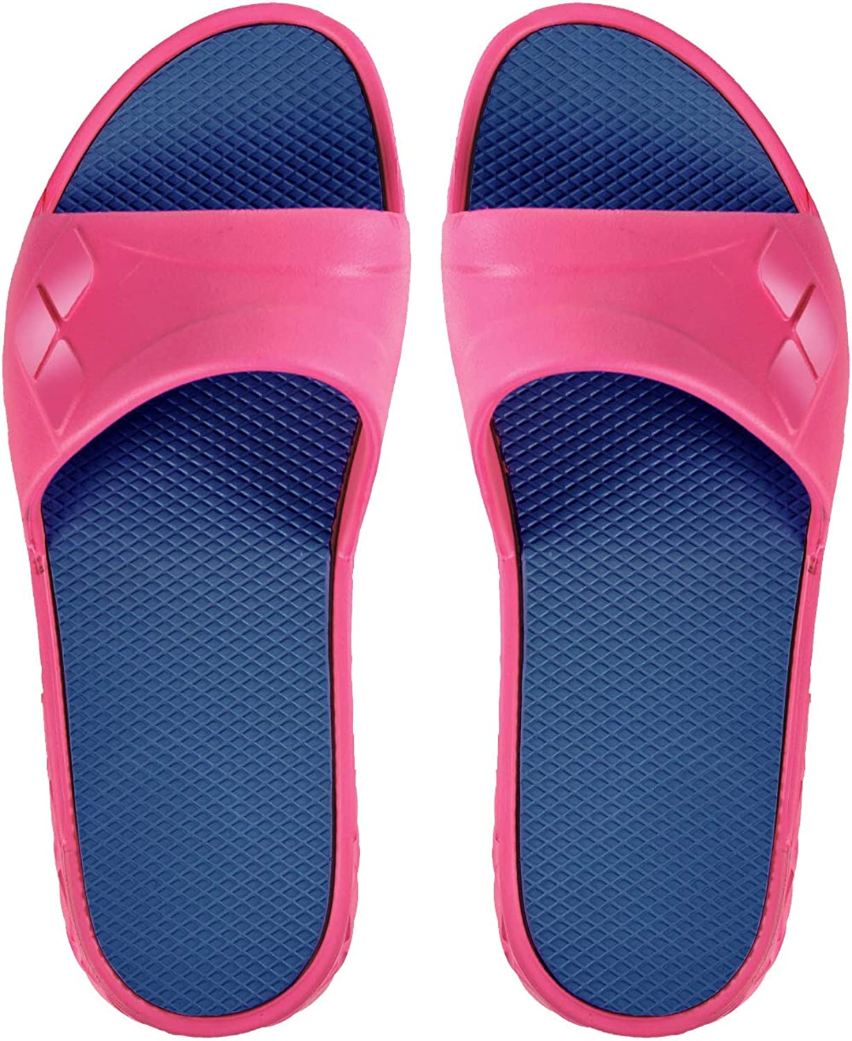 Arena Women's Watergrip Slide Pool Sandals, Fuchsia Grey, Size 6