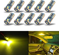 iBrightstar Newest Extremely Bright Wedge T10 168 194 LED Bulbs For Car Interior Dome Map Door Courtesy License Plate Lights, Gold Yellow