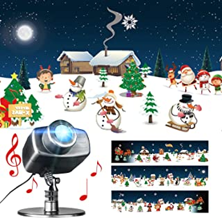 EAMBRITE Animated Christmas Projector Lights with Music Waterproof Landscape Projector Light Decorations Stage Holiday Christmas Theme Party