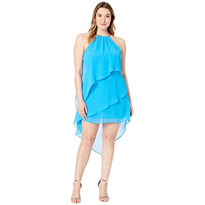 Laundry by Shelli Segal Chiffon Cocktail Dress with Necklace (Curacao) Women