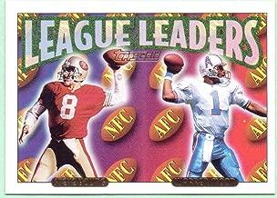 Steve Young, Warren Moon 1993 Topps League Leaders Gold #220 - San Francisco 49ers, Houston Oilers