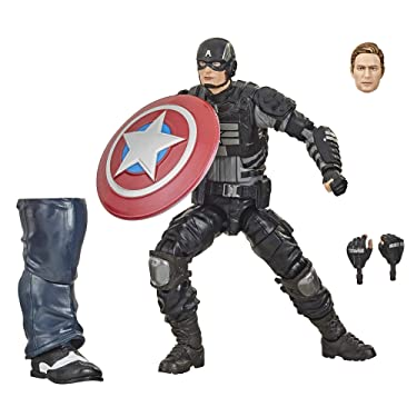 Hasbro Marvel Legends Series Gamerverse 6-inch Collectible Stealth Captain America Action Figure Toy, Ages 4 and Up