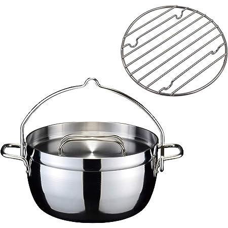 【燕三条製】TSBBQ ライトステンレス ダッチオーブン(無水鍋) 8インチ ミラー仕上げ TSBBQ-006