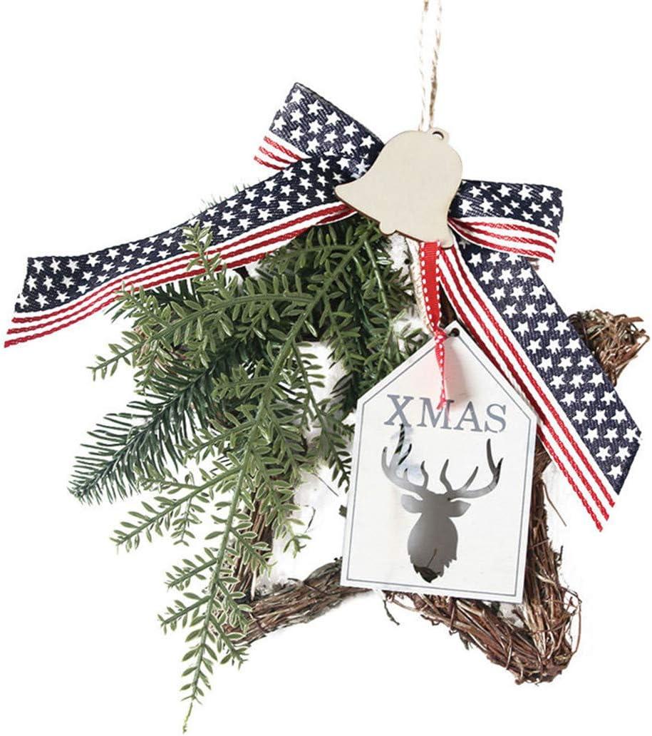 LYFWL Detroit Mall Christmas Raleigh Mall Hanging Ornament Wreath Orna Wall Door