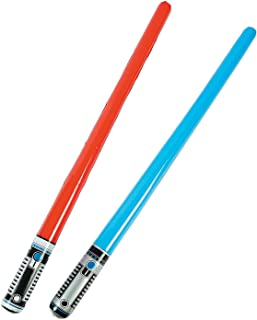 Unbranded 24 Inflatable Lightsabers Party Favor Goody Bag Star Wars Decor Game Lot Red Blu