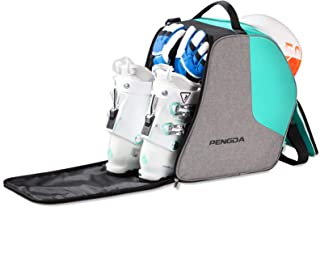 PENGDA Ski Boot Bag Snowboard Boots Bag Excellent for Travel Waterproof Exterior & Bottom Adjustable Shoulder Strap for Ski Helmets, Goggles, Gloves, Ski Apparel & Boots Storage