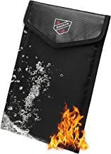 Fireproof and Waterproof Wallet.The Fireproof Security Bag can Store A5 Bank Envelope to Store Cash, documents, Jewelry an...