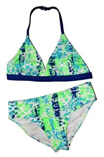 6bdb3a261878 Ocean Pacific Green Blue Neon Blue Fire Girls 2-Piece Bikini Swim Suit  Swimsuit