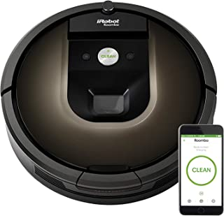 iRobot Roomba 980 Robot Vacuum- Wi-Fi Connected Mapping, Compatible with Alexa, Ideal for Pet Hair, Carpets, Hard Floors (Renewed)