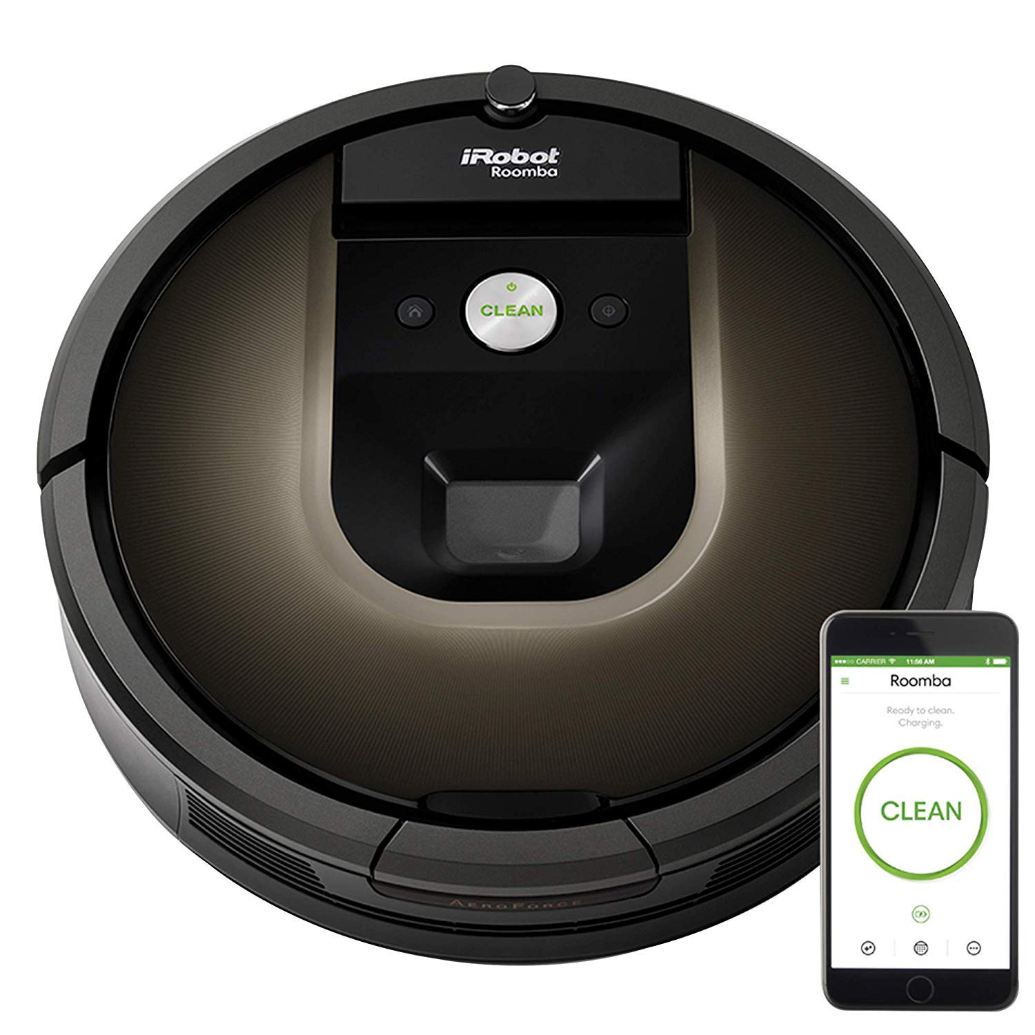 iRobot Roomba 980 Robot Vacuum-Wi-Fi Connected Mapping, Works with Alexa, Ideal for Pet Hair, Carpets, Hard Floors, Power ...