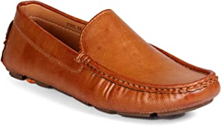 Levanse Matte Tan Synthetic Leather Corporate Casual Loafer Shoes for Men/Boys
