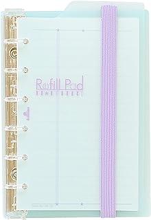 ミニ6穴 デザイン リフィルパッド リング径 13mm【マージン罫ブルー】 1708-170