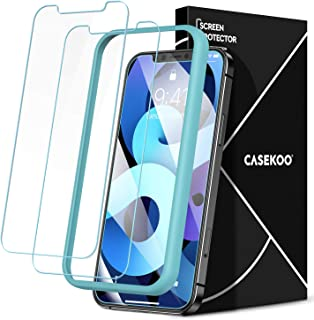 CASEKOO Shatterproof Compatible with iPhone 12 Pro Max Screen Protector, [Military Grade Protection] Anti-Scratch Clear Te...