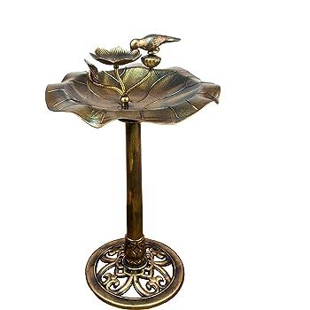 """4 Anhänger /""""Vogeltränke/"""" in antik Bronze"""