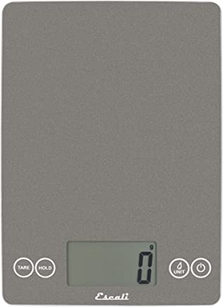 "Escali Arti 15-Pound/7-Kilogram Digital Scale 15"" x 6.5"" x 0.75"" Gray"