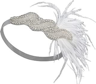 Silver 20s Headpiece Vintage 1920s Headband Flapper Great Gatsby Style