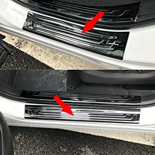 Beautost Fit for Honda 2017 2018 2019 CR-V CRV Stainless Outside Door Sill Scuff Plate Guard Cover Trim (Black)