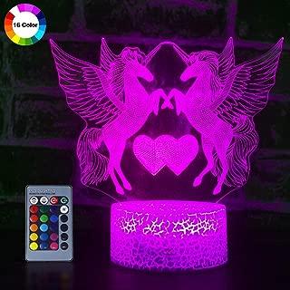 Unicorn 3D Night Light for Girls, Optical Illusion Light...