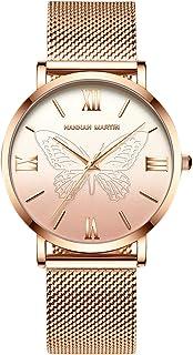 Nueva Mujer Relojes de Pulsera Acero Inoxidable Correa de Reloj Mariposa Relojes de Mujer Reloj de Dama