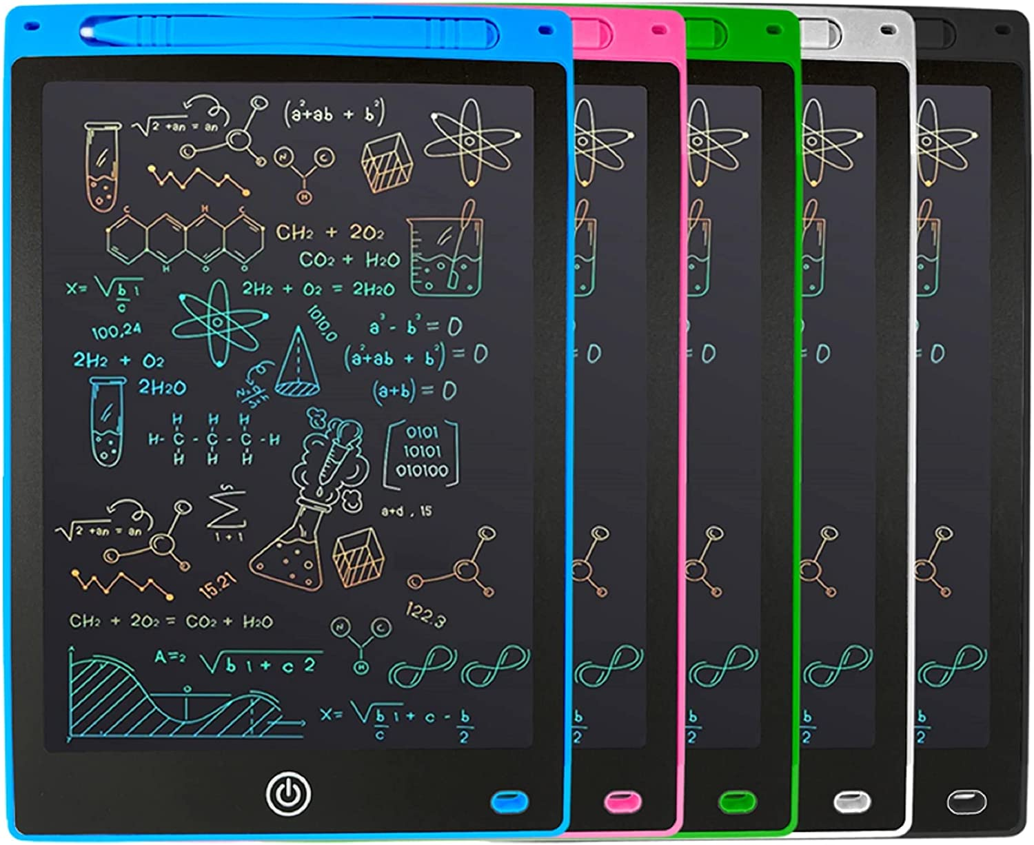 LCD Writing Tablet for Kids, Colorful Screen Doodle (Blue)