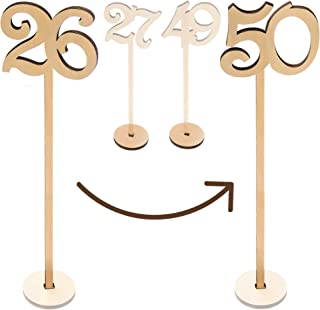 Merry Expressions - Wooden Wedding Table Numbers 26-50 Pack - 13.5