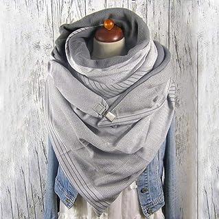 SJYM Fashion Women Soild DOT Stampa Pulsante Soft Wrap Casual Sciarpe Calde Scialli Sciarpa Sciarpa Donna, B, Taglia Unica