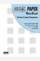 MUSIC PAPER NoteBook - Guitar Chord Diagrams Paperback
