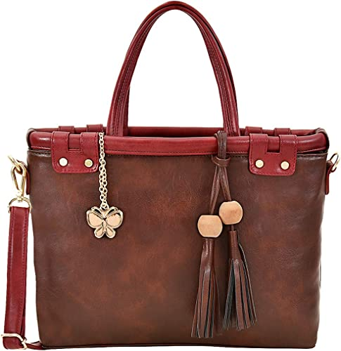 Butterflies Women Handbag Brown Maroon BNS 0722BN