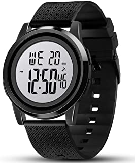 Mens Digital Watch Ultra-Thin Sports Waterproof Simple...