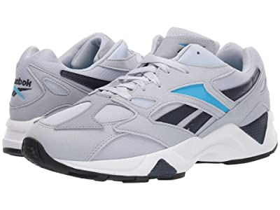 Reebok Lifestyle Aztrek 96 (Cold Grey/Navy/Cyan/Black) Athletic Shoes