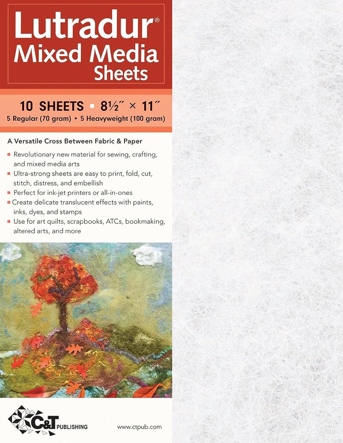 C&T PUBLISHING Lutradur Mixed Media Sheets, 8.5