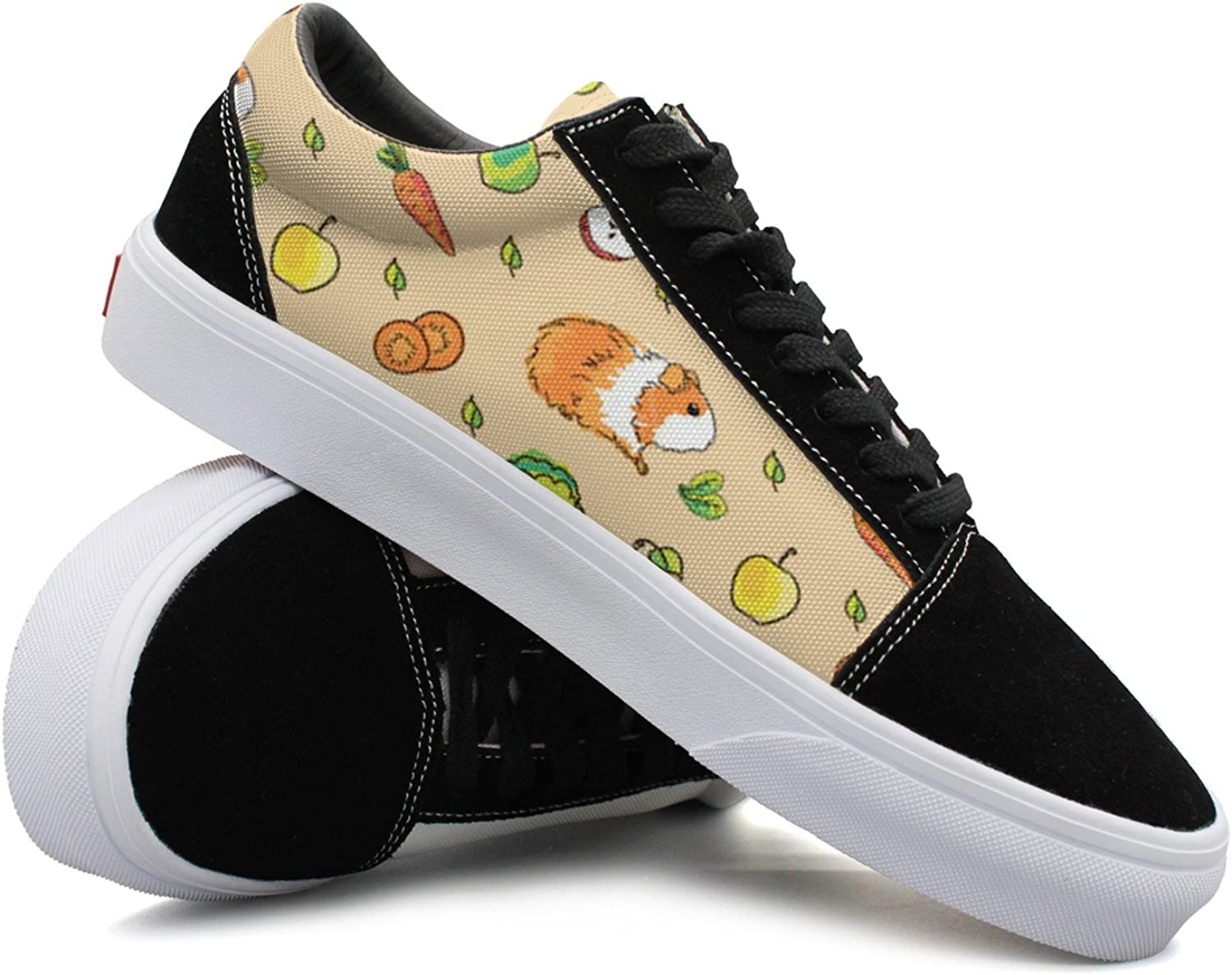 Guinea Pigs Background With Pets And Food Women Casual shoes Sneakers Footwear Lo-Top Cute Simple
