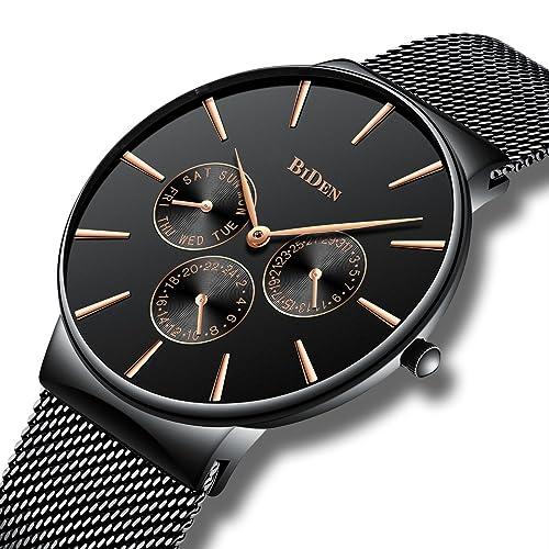 c4156f513cc Mens Simple Designer Watches Men Waterproof Date Calendar Stainless Steel  Mesh Analogue Quartz Watch Men s Business