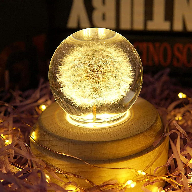 LFGKeng Crystal Max 73% OFF Ball Music Dandelion Box Deco famous Specimens